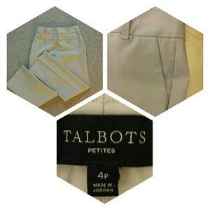 Talbots 4P Beige Slacks